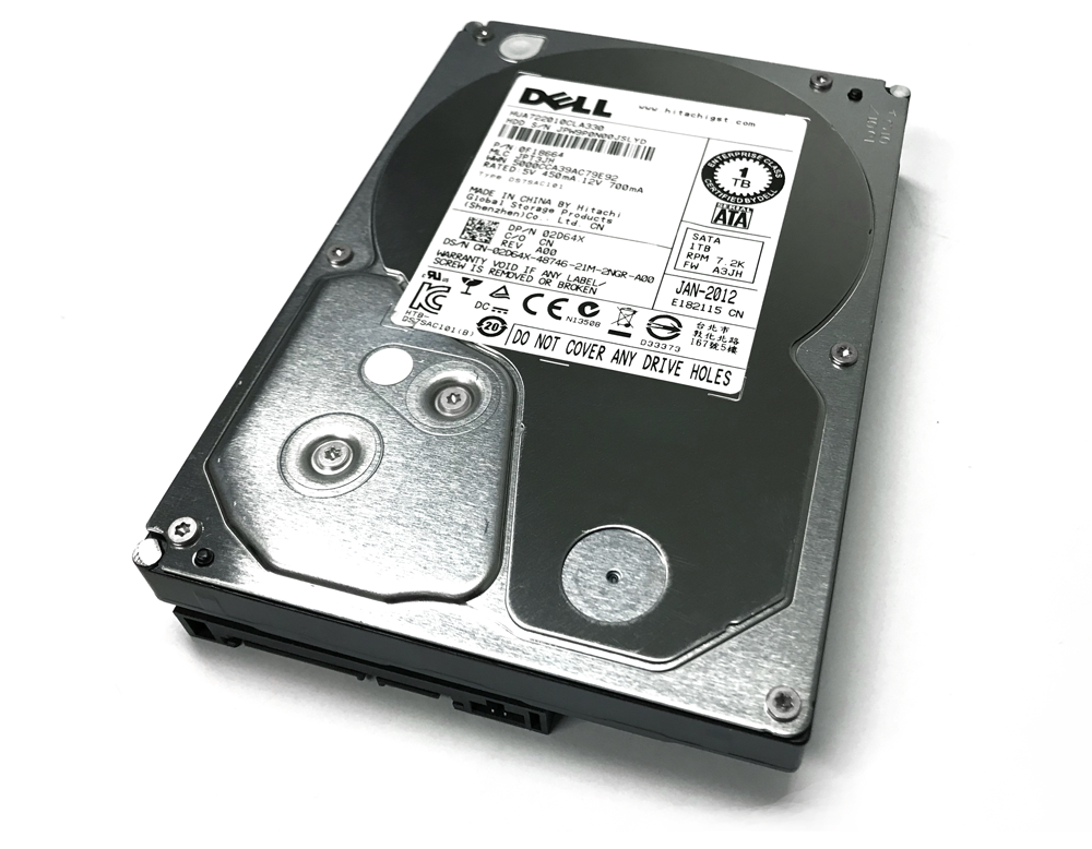 Refurbished: Dell 1TB SATA 02D64X 3 5