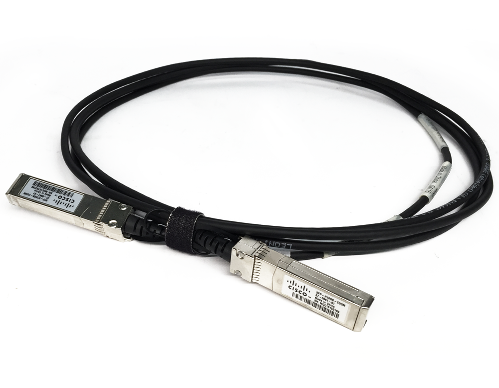Refurbished: Cisco 3-Meter Twinax SFP+ 10GbE Direct Attach Cable DAC