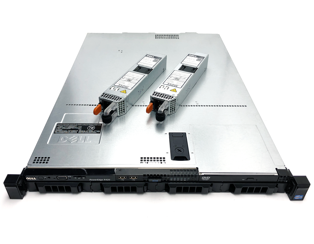 "4x Caddy 2x 2.4GHz Quad Core Dell PowerEdge R410 4x 3.5/"" Hot-Swap Server 32GB"