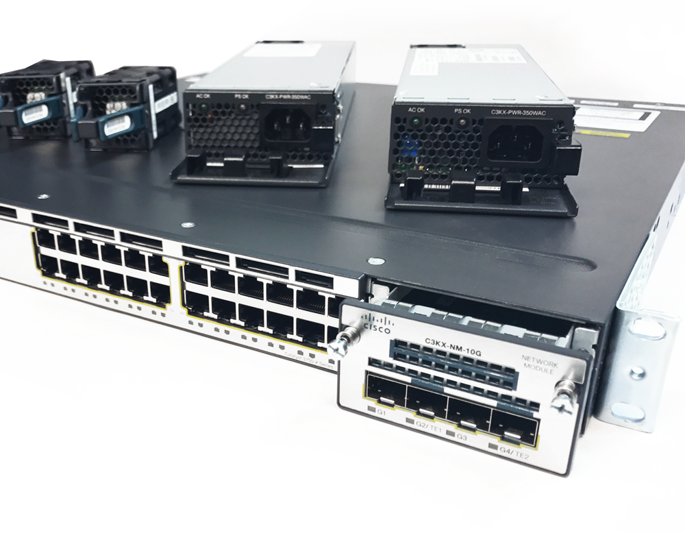 Refurbished: Cisco 3750-X Series 24-Port Gigabit Managed Switch  WS-C3750X-24T-L