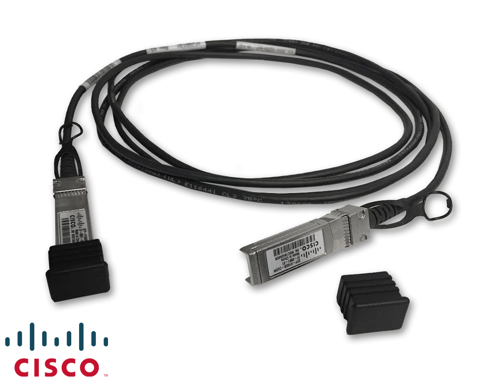Cisco 3-Meter 10GbE SFP+ to SFP+ Passive Direct Attach Cable - 3-AWG -  4 2mm Gauge