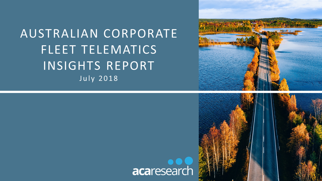 Australian Corporate Fleet Telematics Insights: First Edition (2018)