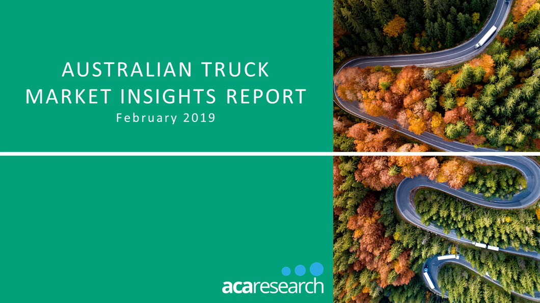 Australian Truck Market Insights Report: First Edition (2019)