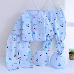 0-3 Months Infant Clothing Set Cotton Newborn Clothes Baby Underwear for Girls Print New Born Baby Girl Suits 7pcs/set