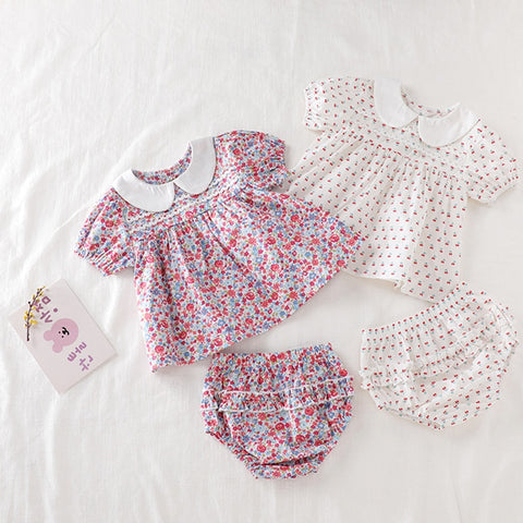 Baby Girls Clothes Set 2020 New Flower T-shirt+PP Shorts Summer Newborn Baby Girls Clothes Infant Baby Girls Clothing Suit