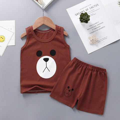 Newborn Baby Girl Clothes Summer Outfit Vest+shorts 2pcs Set For Kids 6-24months Toddler Girls Tracksuit Child Clothing