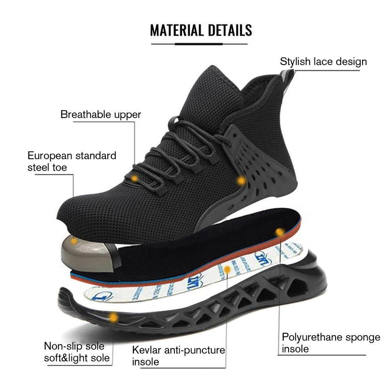 Anti Slip Safety Shoes & Sneakers - S6