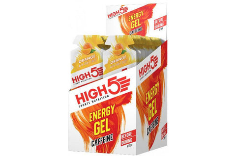 High5 Energy gel Orange Plus Kasse med 20 stk