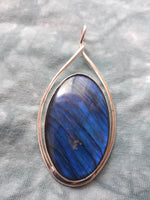 Labradorite and silver pendant