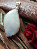 Large polished moonstone pendant