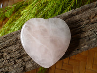Rose Quartz heart Palm Stone