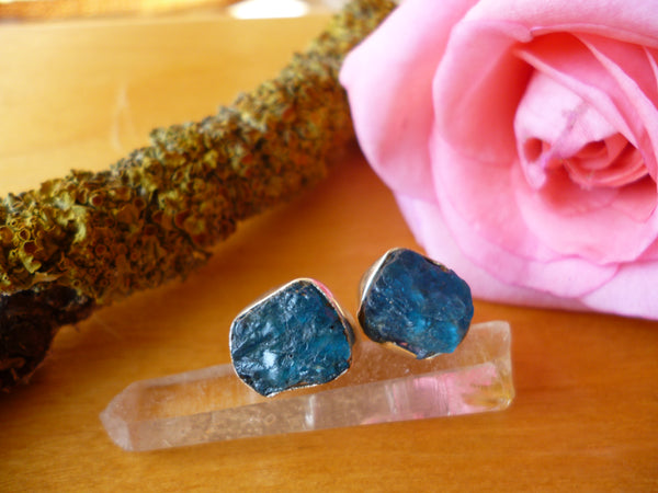 Apatite sterling silver studs