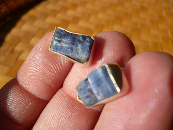 Kyanite sterling silver studs
