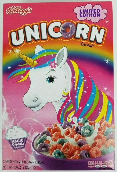 Breakfast Cereal Kellogg's Limited Edition Unicorn Cereal FindYourCereal