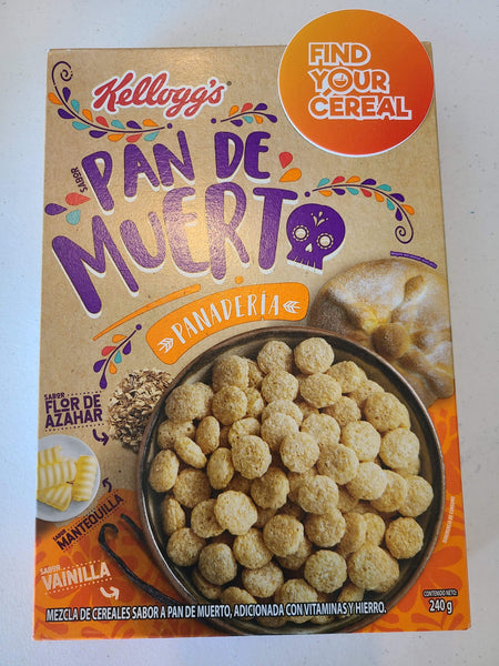 Breakfast Cereal Kellogs Pan De Muerto Bread of the Dead Breakfast Cereal FindyourCereal.com