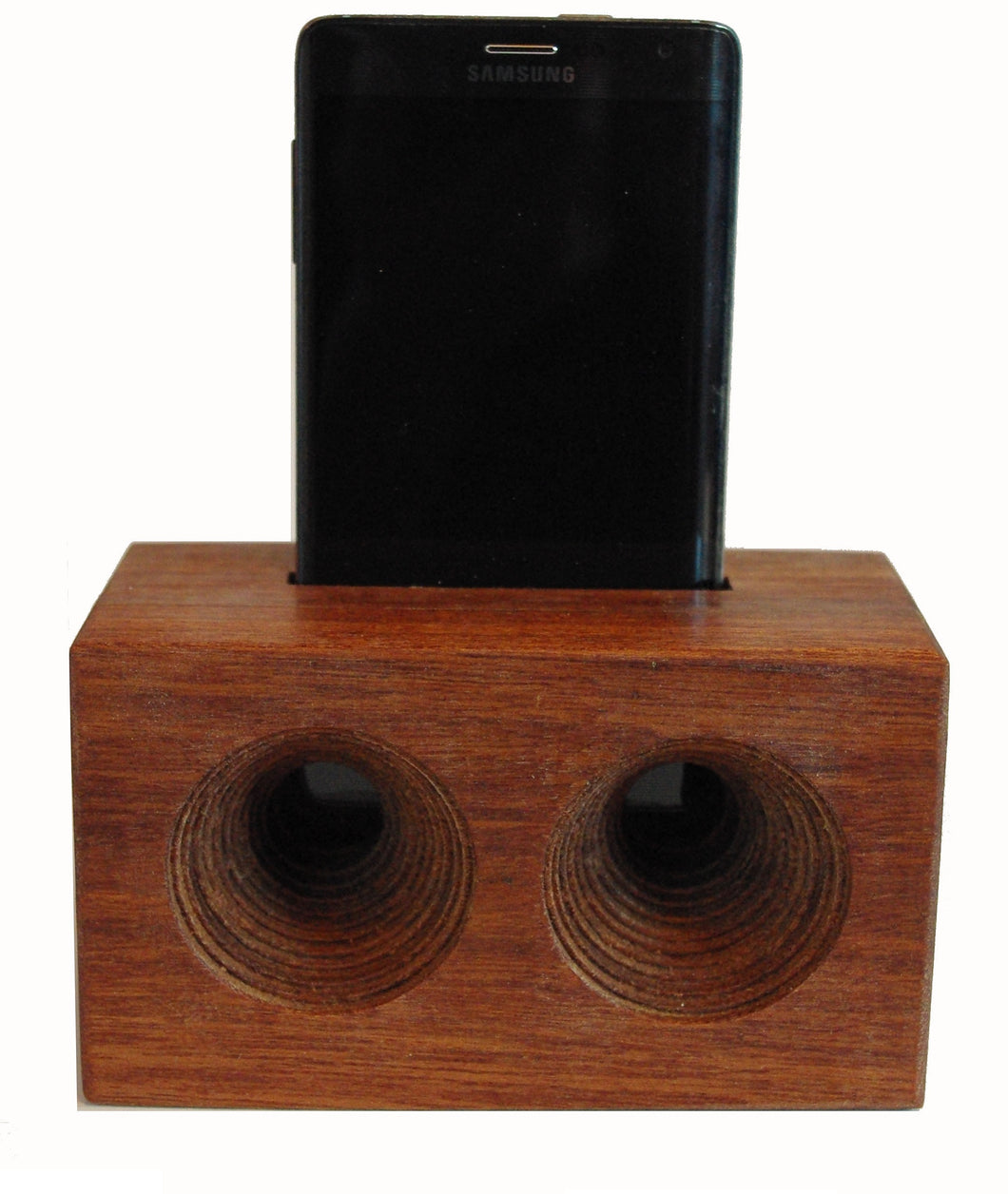 Mega AMP a wooden cell phone amplifier. Works without electricity. ENGRAVED