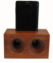 Load image into Gallery viewer, Mega AMP a wooden cell phone amplifier. Works without electricity.