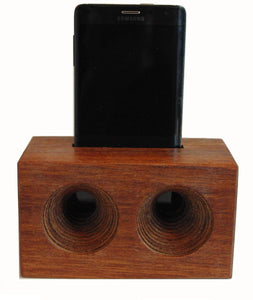Mega AMP a wooden cell phone amplifier. Works without electricity.
