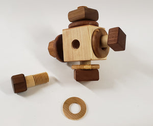 Wooden Activity Cube Nuts and Bolts Montessori toys