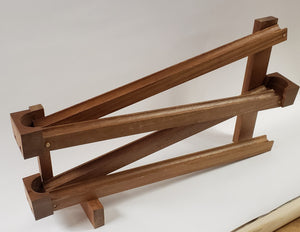 Classic Marble Run, hand made with mahogany wood
