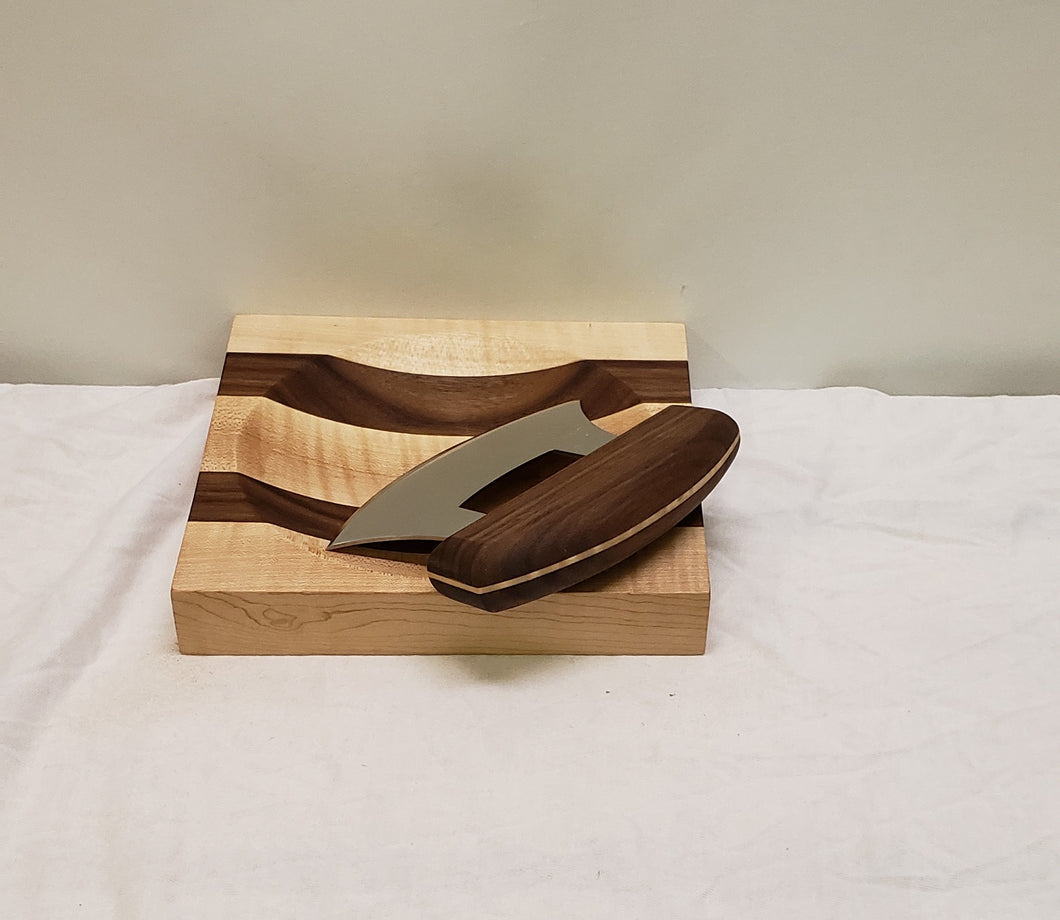 ULU Knife with Cutting Board