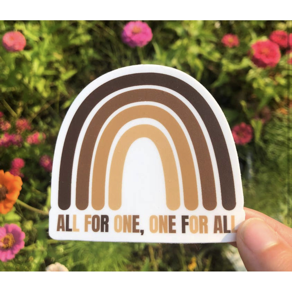 All For One, One For All Sticker