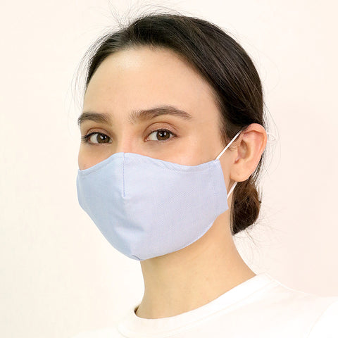 Blue Antimicrobial Face Mask - CYC x Liberty London