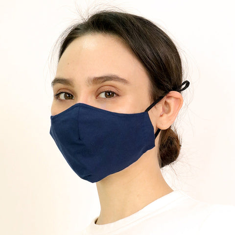 Navy Antimicrobial Face Mask - CYC x Liberty London