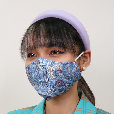 Blue Paisley Antimicrobial Face Mask - CYC x Liberty London