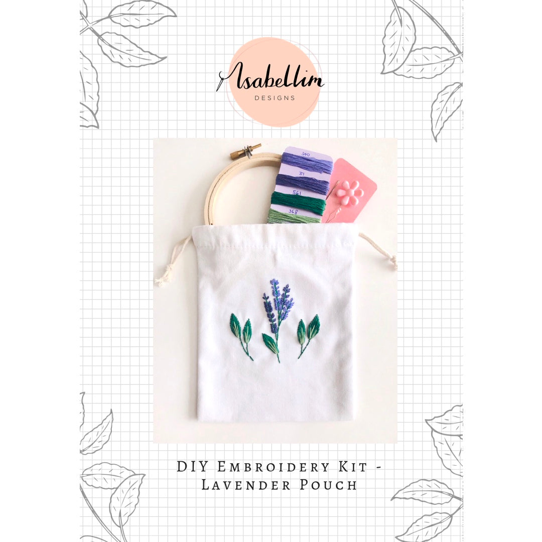 DIY Embroidery Kit - Lavender Pouch