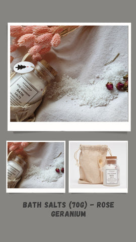 Bath Salts (70g) - Rose Geranium