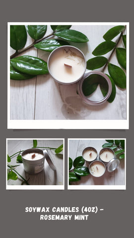 Soywax Candles (4oz) - Rosemary Mint