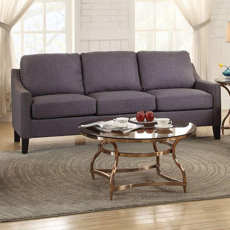 "68"" X 31"" X 36"" Gray Linen Sofa - RichRange 