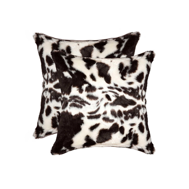"18"" x 18"" x 5"" Brownsville Chocolate & White Faux - Pillow 2-Pack - RichRange 