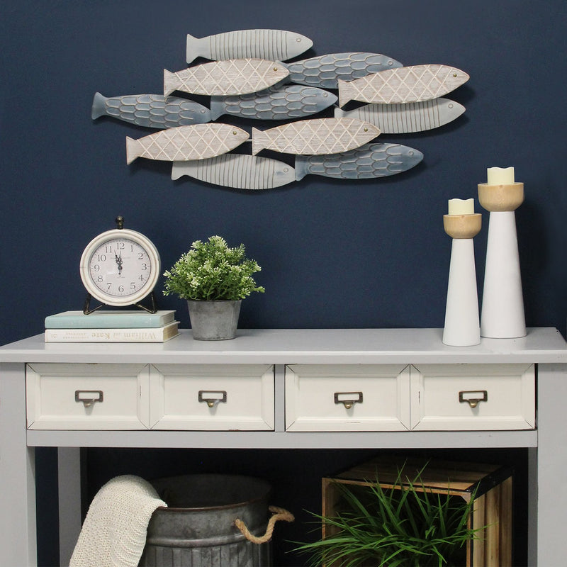 School of Fish Wood & Metal Wall Decor - RichRange | The Best Deals Online: Furniture, Home Decor & More