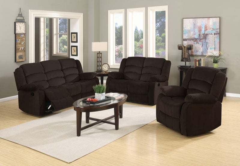 "120"" Contemporary Brown Fabric Sofa Set - RichRange 