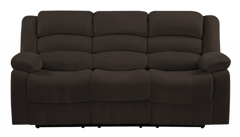 "40"" Contemporary Brown Fabric Sofa - RichRange 