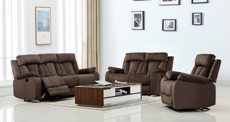 "120"" Modern Brow Fabric Sofa Set - RichRange 