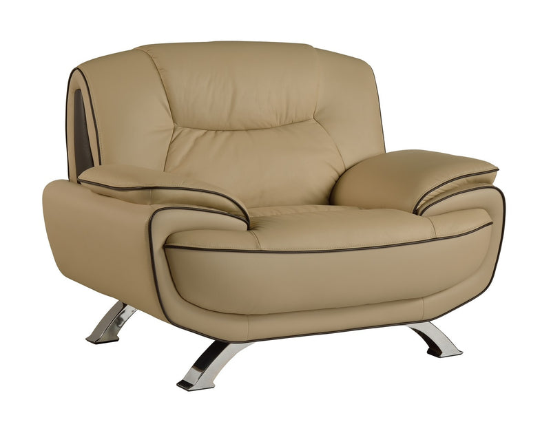 "40"" Beige Sleek Leather Recliner Chair - RichRange 