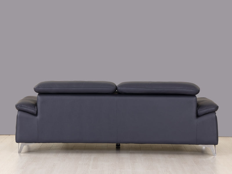 "31"" Fashionable Navy Leather Sofa - RichRange 