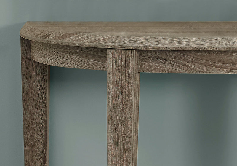 "11.75"" x 36"" x 32.5"" Dark Taupe Finish Accent Table"