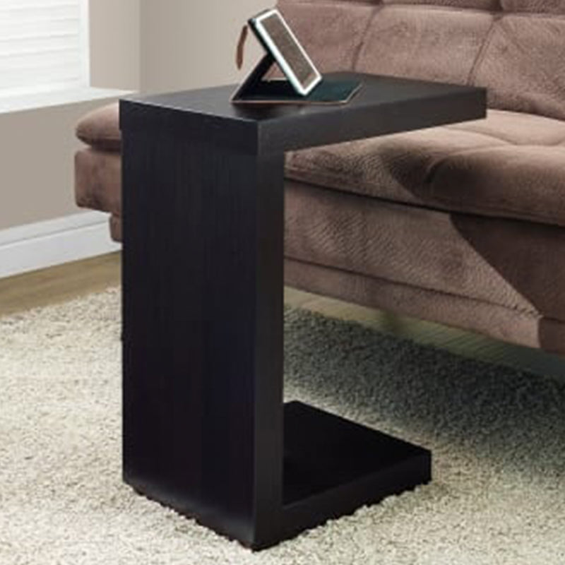 "11.5"" x 18"" x 24"" Cappuccino Hollow Core Particle Board Accent Table"