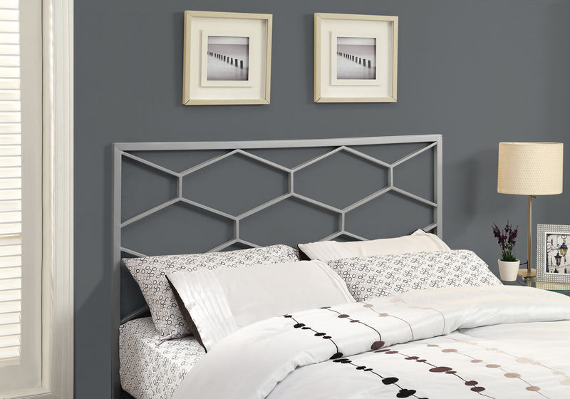 "1"" x 59.75"" x 47"" Silver Queen or Full size Headboard FootBoard"