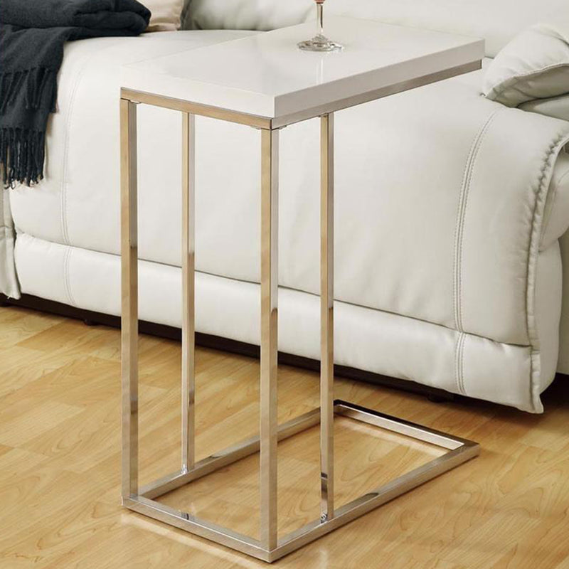 "18.25"" x 10.25"" x 25.25"" White Particle Board Metal Accent Table - RichRange 