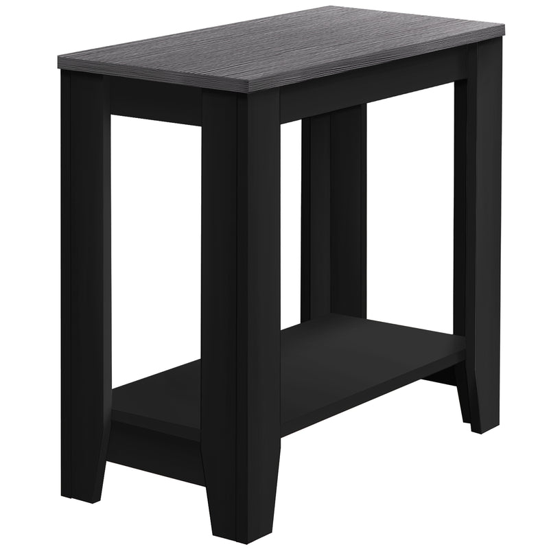 "11.75"" x 23.75"" x 22"" BlackGrey Particle Board Laminate Accent Table"