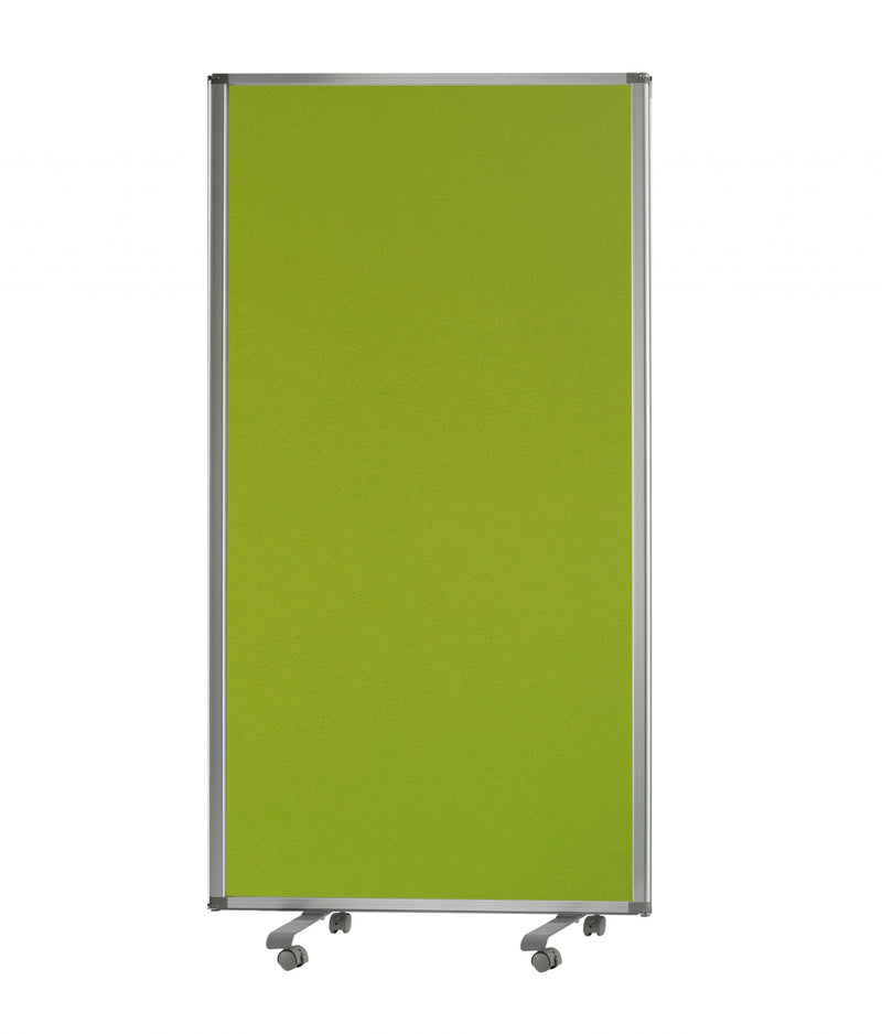 Green Rolling 3 Panel Room Divider Screen