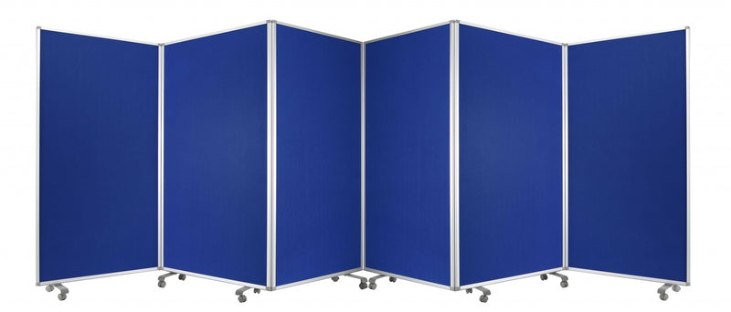 "106"" x 1"" x 71"" Blue, Metal and Fabric - Screen"