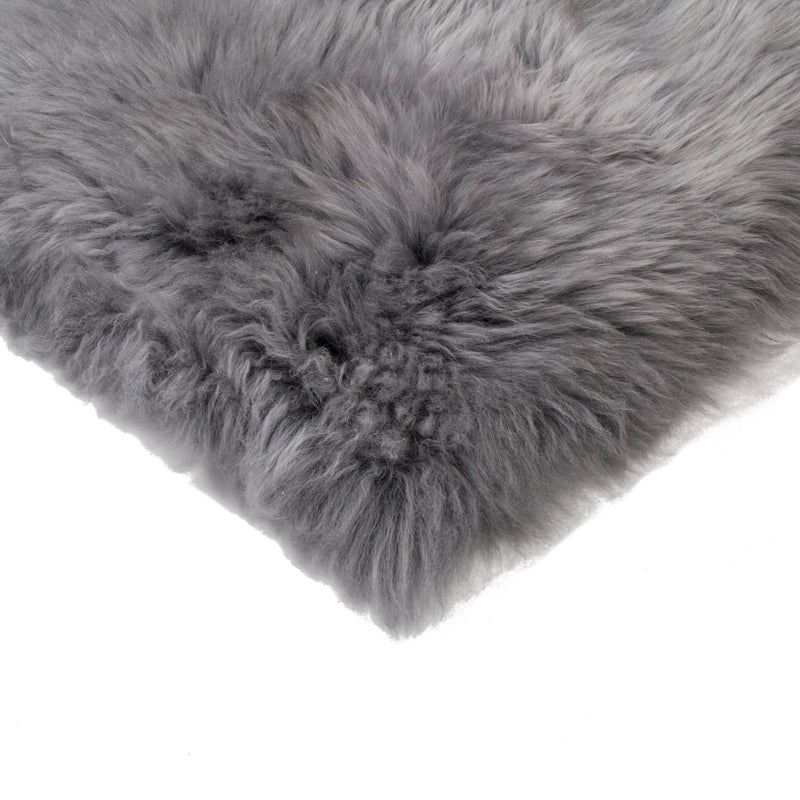 "17"" x 17"" Gray Sheepskin - Seat Chair Cover"
