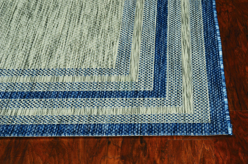 7' x 10' UV treated Polypropylene Grey or Denim Area Rug