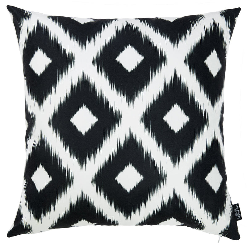 Black and White Ikat Decorative Throw Pillow Cover - RichRange | The Best Deals Online: Furniture, Home Decor & More